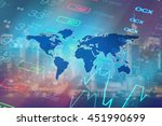 economy background with... | Shutterstock . vector #451990699