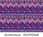 tribal boho pattern. ethnic... | Shutterstock .eps vector #451993468