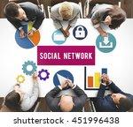 social media network internet... | Shutterstock . vector #451996438