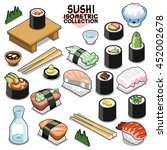 sushi collection  traditional... | Shutterstock .eps vector #452002678