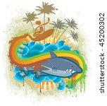 shark kingdom. jpeg version. | Shutterstock . vector #45200302