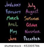 calligraphy | Shutterstock .eps vector #452005786