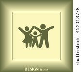 happy family icon in simple... | Shutterstock .eps vector #452013778