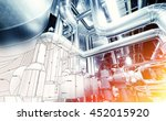 sketch of equipment  cables and ... | Shutterstock . vector #452015920