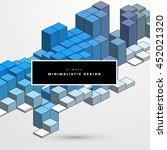 geometric vector background.... | Shutterstock .eps vector #452021320
