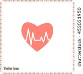 heart pulse icon | Shutterstock .eps vector #452021950
