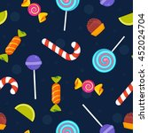 sweets and candies mix.... | Shutterstock .eps vector #452024704