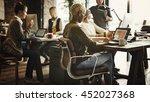 african descent brainstorming...   Shutterstock . vector #452027368