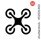 quadcopter icon flat style... | Shutterstock .eps vector #452031403