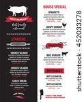 menu placemat food restaurant... | Shutterstock .eps vector #452033278