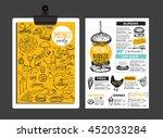 menu placemat food restaurant... | Shutterstock .eps vector #452033284