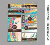 set of vector design templates. ... | Shutterstock .eps vector #452035888