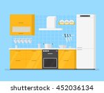 modern interior kitchen room in ... | Shutterstock .eps vector #452036134
