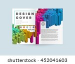 geometric cover background ... | Shutterstock .eps vector #452041603