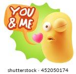 3d rendering. emoticon face... | Shutterstock . vector #452050174