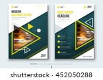 yellow cover design. corporate... | Shutterstock .eps vector #452050288