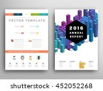 geometric cover background ... | Shutterstock .eps vector #452052268