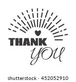 vintage label with thank you... | Shutterstock .eps vector #452052910