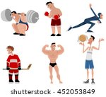 vector illustration of a six... | Shutterstock .eps vector #452053849