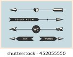 set of vintage arrows and... | Shutterstock . vector #452055550