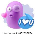 3d rendering. emoticon face...   Shutterstock . vector #452055874