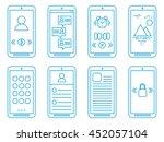 flat icons smartphone