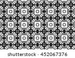 ornament with black and white... | Shutterstock . vector #452067376