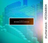 geometric vector background.... | Shutterstock .eps vector #452068804