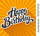 happy birthday hand drawn... | Shutterstock .eps vector #452071516