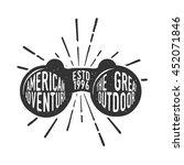 handdrawn adventure logo and... | Shutterstock .eps vector #452071846