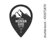 handdrawn adventure logo and... | Shutterstock .eps vector #452071870