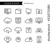internet cloud and data storage ...   Shutterstock .eps vector #452075380