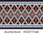 oriental ethnic seamless... | Shutterstock .eps vector #452077168