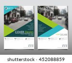 green triangle business annual...   Shutterstock .eps vector #452088859