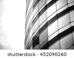 windows of business building on ... | Shutterstock . vector #452090260