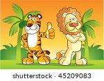 tiger and lion character at...