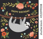 Vector Happy Birthday Card Wit...