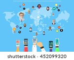 vector businessman... | Shutterstock .eps vector #452099320