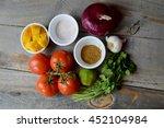ingredients for mango salsa on...