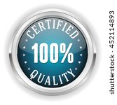 blue certified quality button ... | Shutterstock .eps vector #452114893