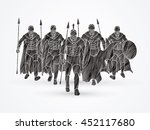 group of spartan warrior... | Shutterstock .eps vector #452117680