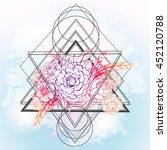 vector boho floral trendy... | Shutterstock .eps vector #452120788