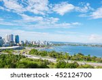 skyline of perth with city... | Shutterstock . vector #452124700