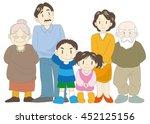 family  parents  children and...   Shutterstock .eps vector #452125156