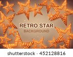 retro stars abstract background ... | Shutterstock .eps vector #452128816