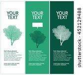 lush trees  tree silhouette...   Shutterstock .eps vector #452129488