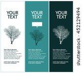 tree silhouette design set   Shutterstock .eps vector #452129494