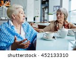 talk by cup of tea | Shutterstock . vector #452133310
