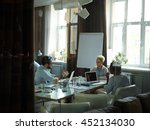 teamwork in office | Shutterstock . vector #452134030