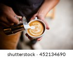 coffee cup latte art | Shutterstock . vector #452134690